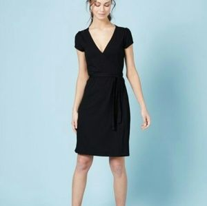 Boden Black Jersey Wrap Dress